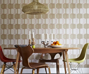 Click to see a larger image for Dining room wallpaper ideas uk