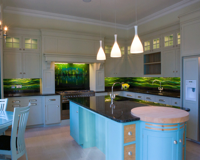 Glass Splashback Kitchen Images