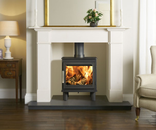 photo of classic warmth stovax living room sitting room with wood burning stove log burner wood burner and stove