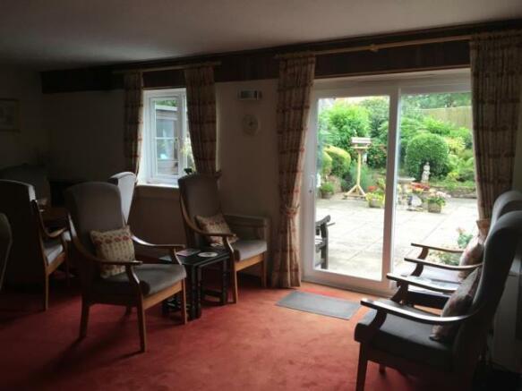 Communal Living Room Overlooking the Garden