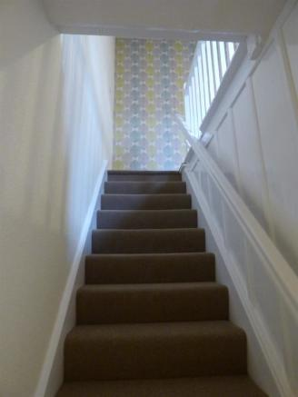 Stair to attic room