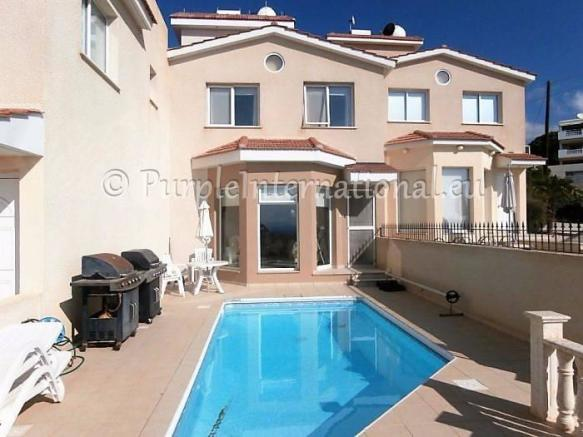Beautiful private swimming pool with sea views