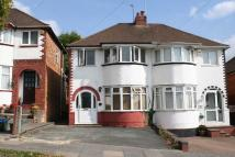 3 bed semi detached home in Bayford Avenue, Sheldon...