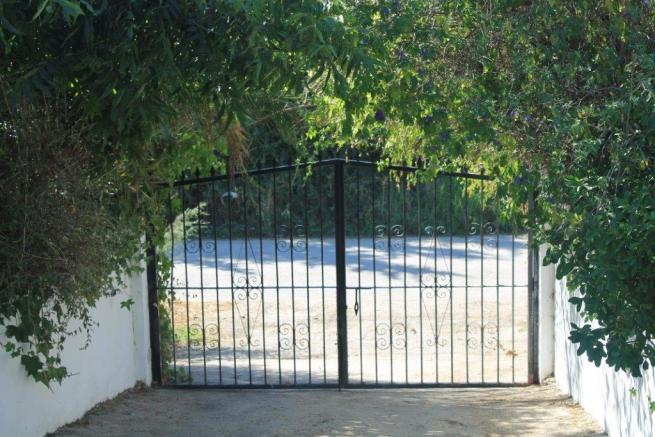 entrance to property