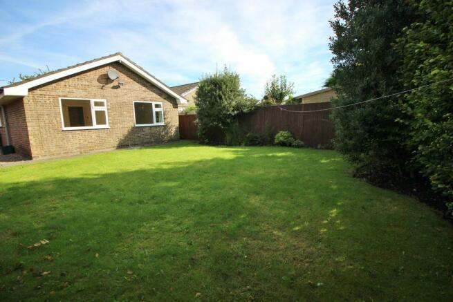 Gardens facing rear of property