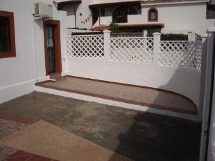 Rear patio with stor