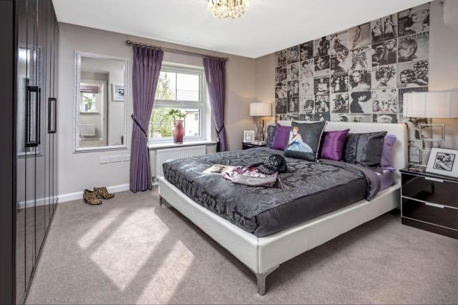 Typical bedroom image by Ward Homes, Sholden Fields, Deal