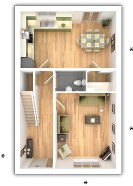 Taylor Wimpey - The Midford -  4 bedroom ground floor plan