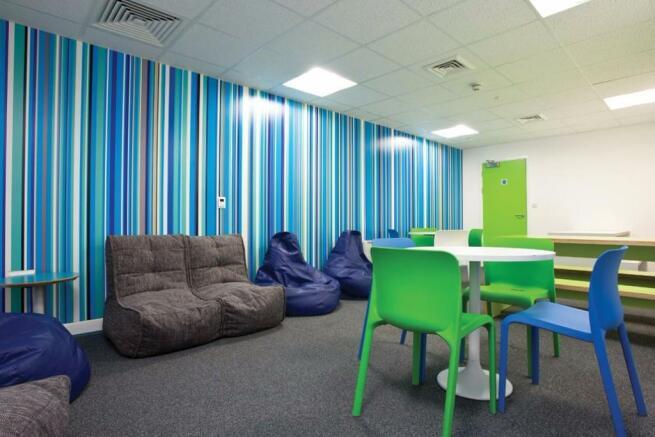 Large communal rooms