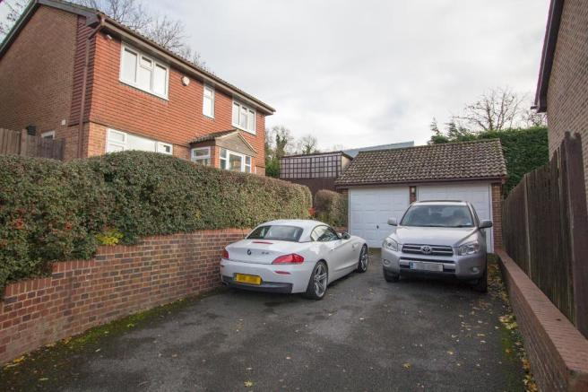 Double garage with off street parking