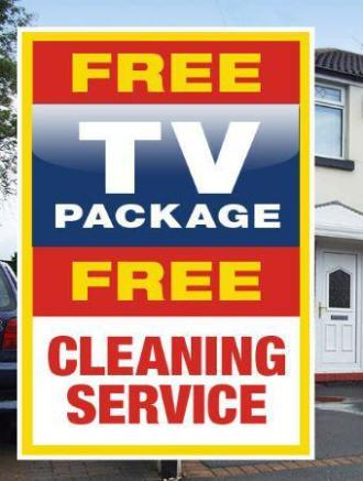 Free TV package and cleaning service.JPG