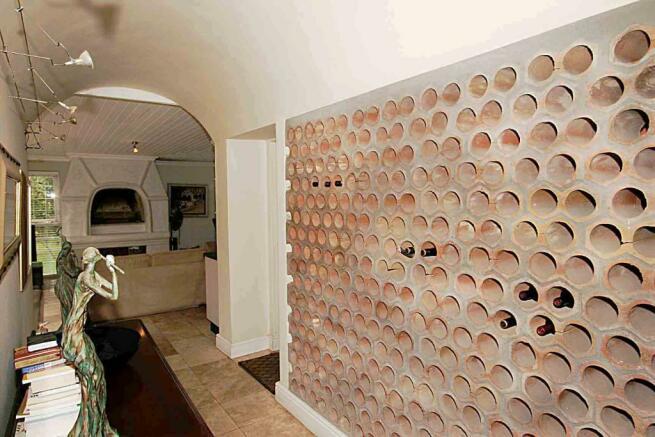 Vaulted wine area