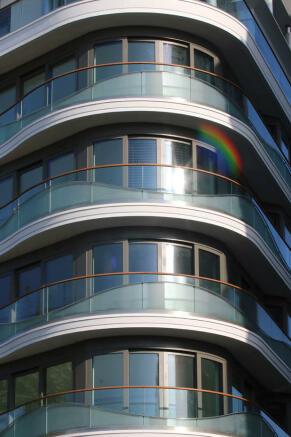Angle balconies
