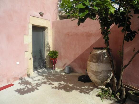Door to house