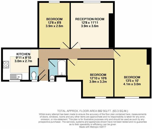 Floor Plan - Flat 22 Rivermead House, E9 5QS.JPG