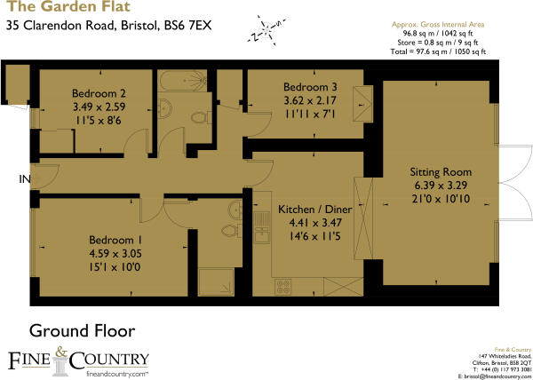 35 Clarendon Road, The Garden Flat 176430 fp-Bristol Brochure