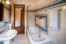 Bathroom with slidin