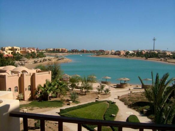 Lagoon-beach view
