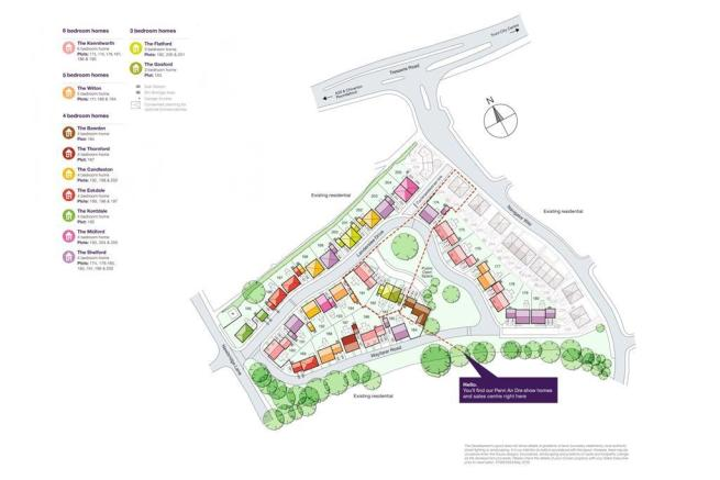TW Exeter - Penn An Dre - Newbridge Lane Siteplan