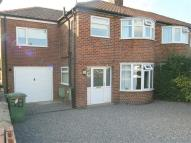 semi detached home to rent in Anthea Drive, Huntington...
