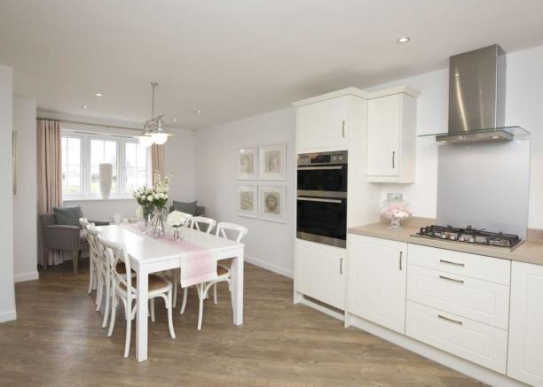 Typical Thornbury fitted kitchen and dining area