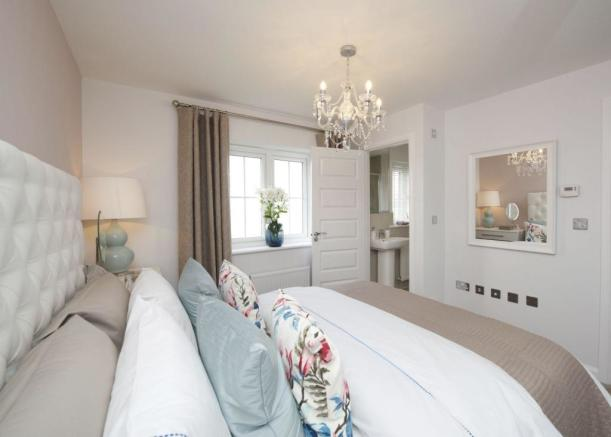 Typical Thornbury master bedroom with en suite
