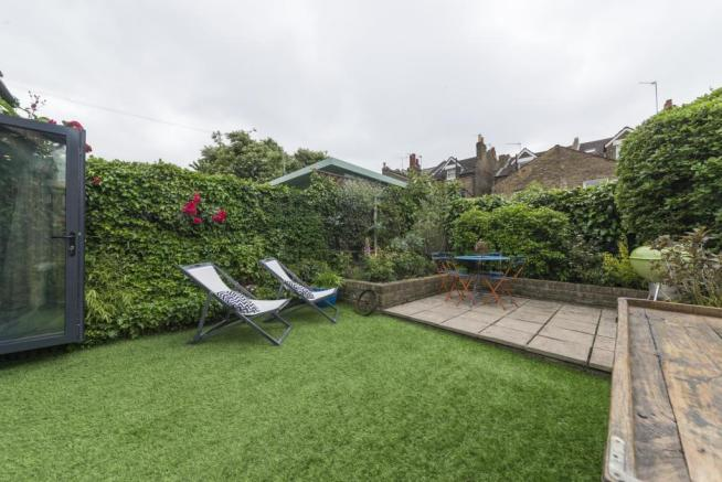Private west facing garden space