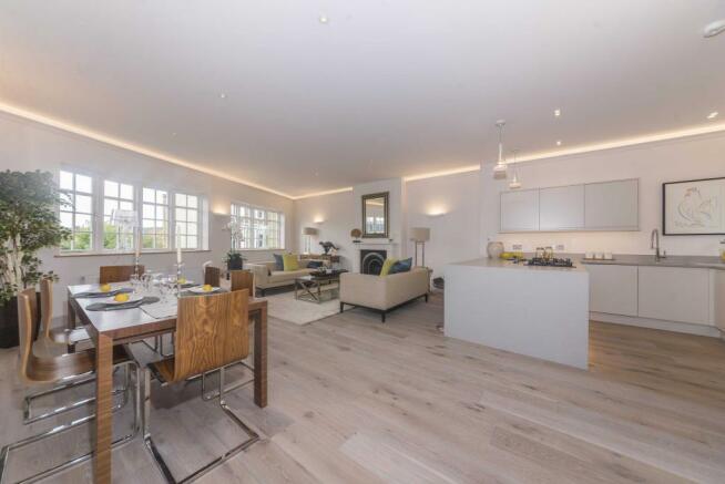 Open-plan reception kitchen