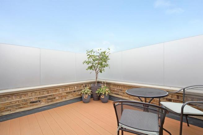 South facing roof terrace