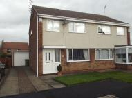 semi detached property for sale in Barnston, Ashington...