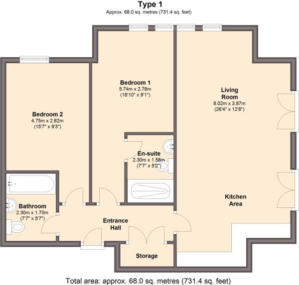 Type 1 Floor Plan