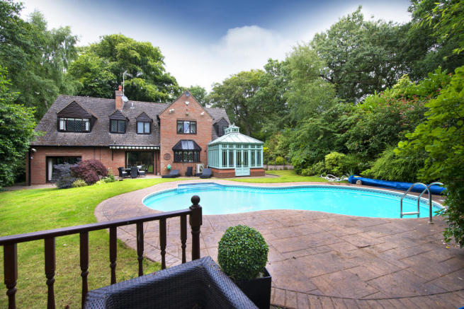 5 bedroom detached house for sale in cedar house Swimming pool sutton coldfield