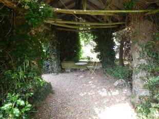 Shaded garden areas