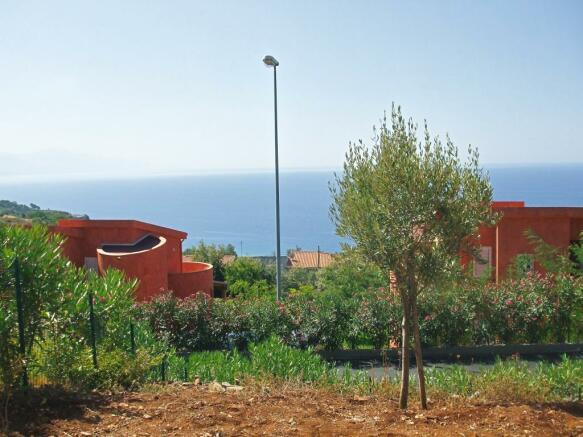 view behind villa