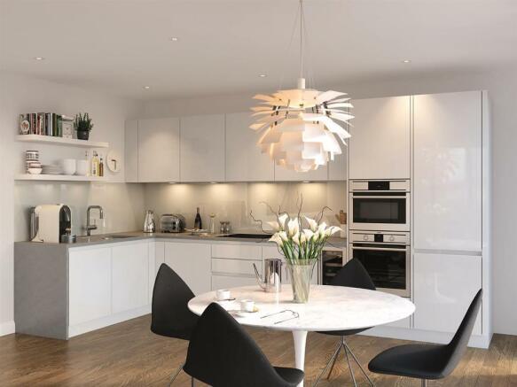 Kitchen CGI Nine Elm