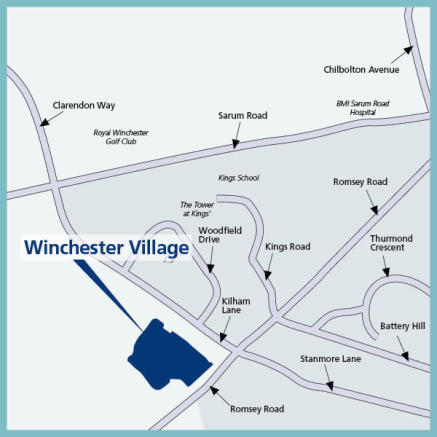 Site directions area map