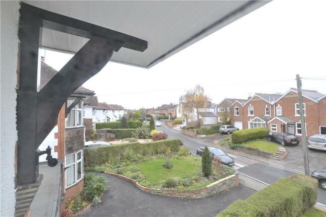 View up Green Lane