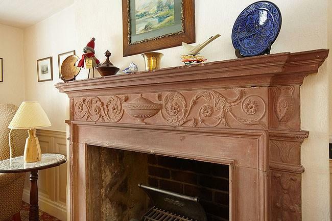 Snug fireplace...
