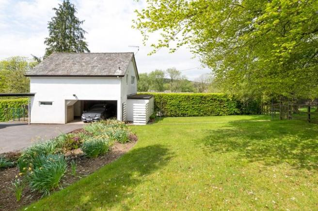 Garden and garage