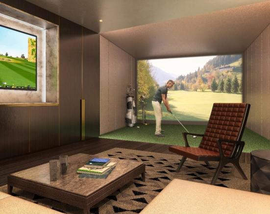 Virtual golf suite