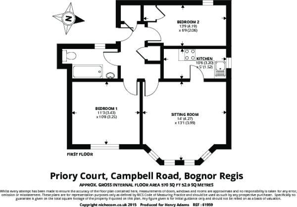 Floor Plan Flat in B