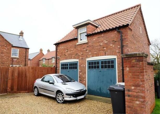 Detached double garage