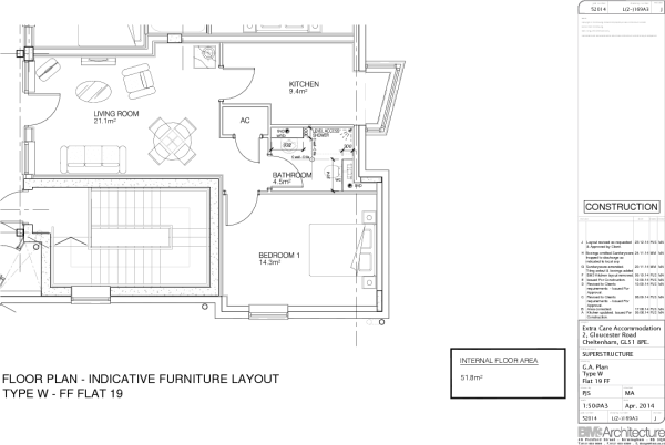 Apt 19 Floor Plan B