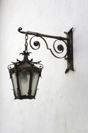 Antique outside lamp