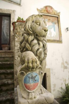Stone lion entrance