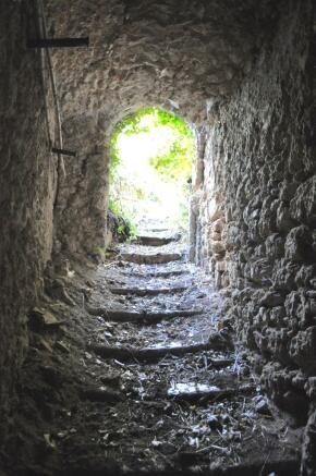 Medieval stone path