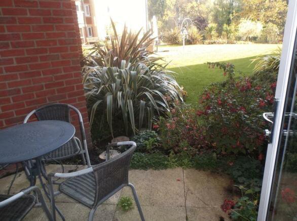 Private patio ...