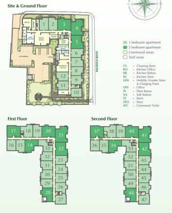 Site floor plan