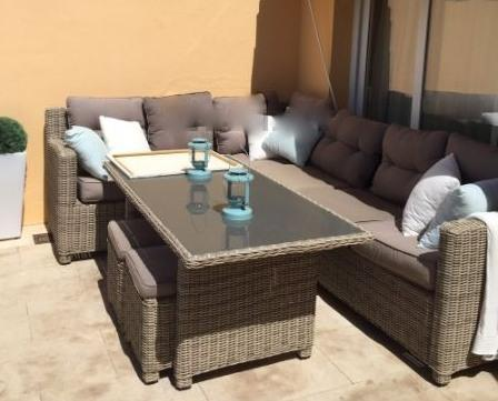 Sofas on terrace