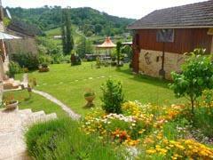 The garden, barn and